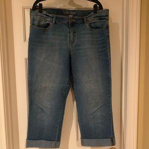 👖 Low rise straight leg Capri jeans